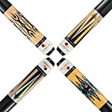 FADAZAI Set of 4 Pool Cue Sticks/House Bar Use Billiard Cue Sticks