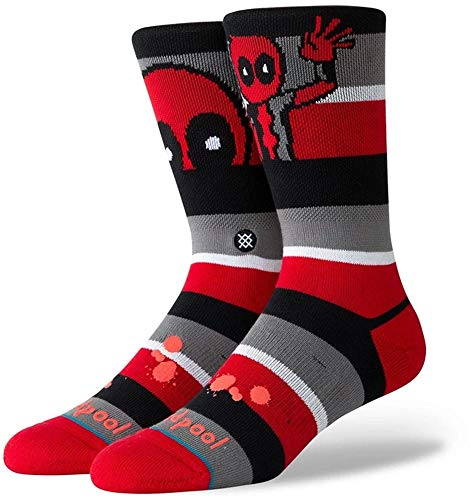 Stance Deadpool Stripe Socken Unisex, Red, S