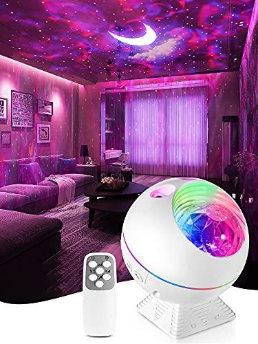 Star Projector,LED Sternenhimmel Projektor Erwachsene,Galaxy Projector,Mini Nachtlicht Kinder,bluetooth Lampe Dimmbar Touch 360° Drehbar mit Fernbedienung,Auto Sternenhimmel Light für Mädchen Geschenk