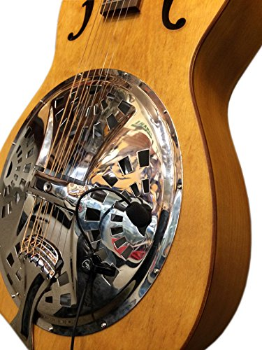 The Feather Dobro Square Neck Resonator Guitar Pickup with Flexible Micro-Gooseneck by Myers Pickups
