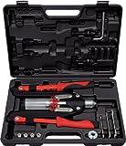 KS Tools 150.9630 Pack tenazas para Remaches universales, en maletín de plástico, Set de 11 Piezas