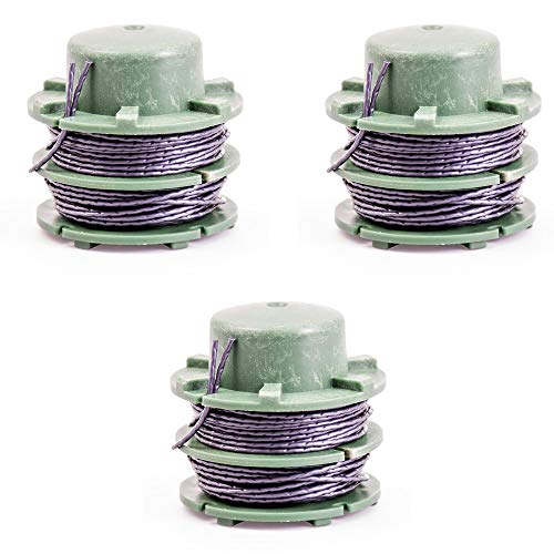 IKRA 15132447-3 Ersatzspulen (DA-C1) 3er-Set Fadenspulen für Rasentrimmer IAT 40-3025