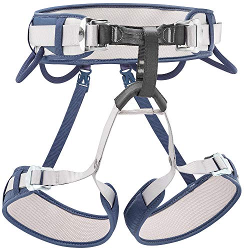 PETZL - CORAX, Versatile and Adjustable Harness, Size 1, Blue Jean