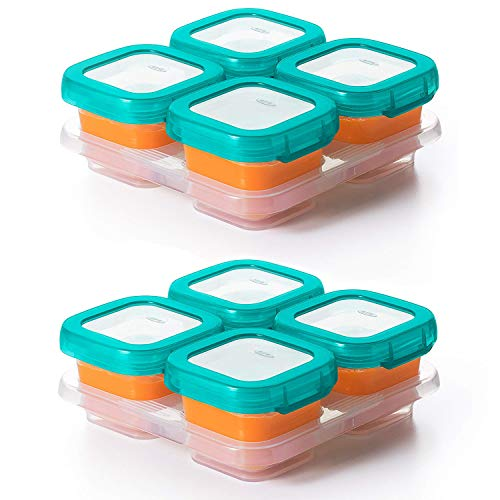 Best Buy! OXO Tot Baby Blocks Food Storage Containers, Teal, 4 Ounce - Set of 2