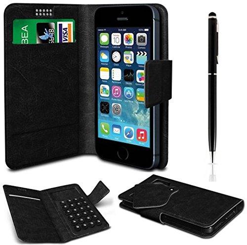 Deet ® Apple iPhone 5/5S, PU-Leder, Saugnapf-Halterung, Schutzhülle mit Karte Halterungen und 2-in - 1 Kugelschreiber/Stylus