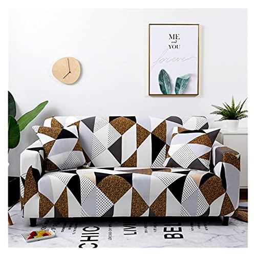 uyeoco Funda Sofa Elasticas 3/4/2/1 Plazas Fundas de Sofa Ajustables Fundas Decorativa para Sofá Estampadas Impresa Cubre Sofa (Color : R, Size : 2 Seater (145-185cm))