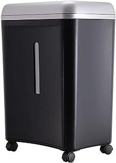 家庭用消音シュレッダーオフィスファイルブレーカー5級シークレットシュレッダー破れやすいディスク、ホッチキス、カードシングル細断紙8 (Color : Black, Size : 35.3*24*46.1cm)