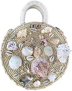 Kiki Boho   Bombshell bag, bolsa de palma guano decorada con dos estrellas de mar, una concha y piedras.