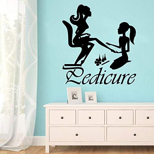hetingyue Fun schoonheidssalon, vinyl, zelfklevend, waterbestendig, decoratie voor slaapkamer, woonkamer, wandlamp