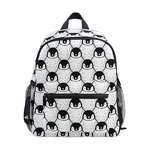 Children's Backpack, Kids Schoolbag Cute Penguin Print Students Bookbag for Boys Girls, Chest Strap