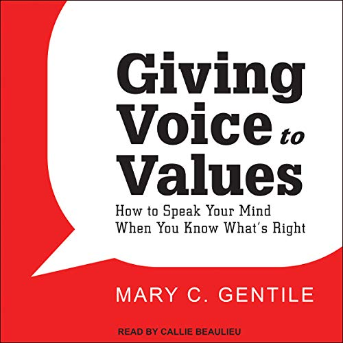 Page de couverture de Giving Voice to Values