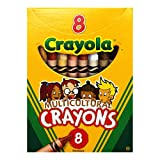 CRAYOLA Binney & Smith (R) Multicultural Crayons, Assorted Specialty Colors, Confezione da 8
