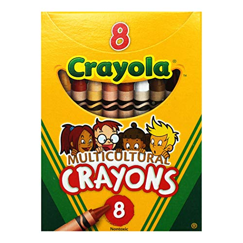 Crayola Multicultural Crayons (Pack of 8 Crayons)