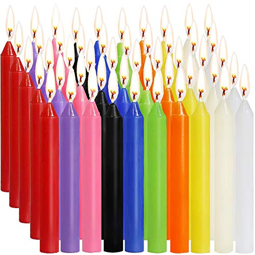 SaiXuan Candle 100 Kerzen Kleine Dripless für Chimes, Magie, Gemeinde, Vigil Kerzenschein, Rituale, Partydekoration (10 Farben)