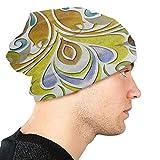 FUYANGOK Tile - Sombrero de punto para mujer, diseño abstracto de geometría con formas barrocas Como Cuadro Taille unique