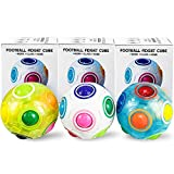 AMENON Rainbow Puzzle Ball Stress Balls Cube Fidget Toy Magic Rainbow Ball Puzzle Stress Fidget Ball Brain Teasers Games Toys for Kids Set of 3