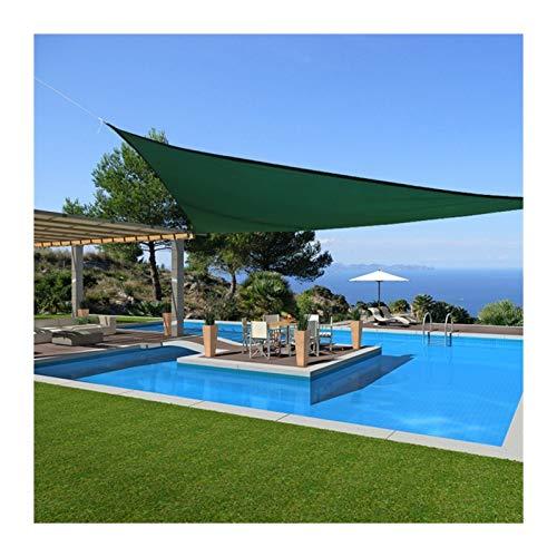 GuoWei Toldo Vela De Sombra, Jardín Al Aire Libre Protección 95% UV Toldo Toldo, Lona De Protección Solar para El Porche del Patio, Tamaño Personalizado (Color : Green, Size : 2.5x2.5x2.5m)