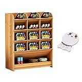 Joyhoop organizador de escritorio Caja de almacenamiento para bolígrafos, de madera, multiusos, organizador de escritorio para el hogar, la oficina y la escuela, color Madera de cerezo