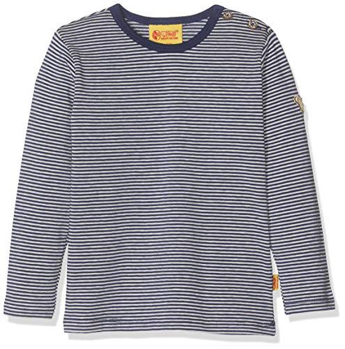 Steiff Jungen T-Shirt Langarm Langarmshirt, Blau (Quarry 8359), 62 (Herstellergröße: 062)