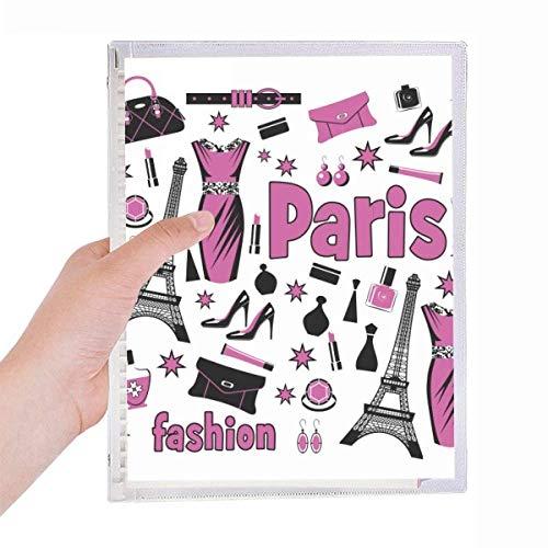 Dressing Lady France - Cuaderno con espiral, diseño de la Torre Eiffel, color rosa