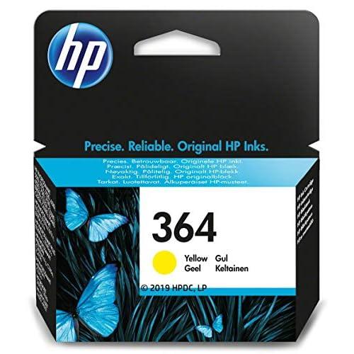 HP 364 CB320EE Cartuccia Originale, 300 Pagine, per Stampanti a Getto di Inchiostro Photosmart B210c, B110c, B110e, B8550, 7520, Deskjet 3520, 3522, 3524, Giallo, il pacchetto può variare