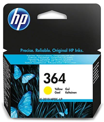HP 364 CB320EE, Amarillo, Cartucho de Tinta Original, de 300 páginas, para impresoras HP Photosmart serie C5300, C6300, B210, B110 y Deskjet serie 3520