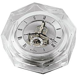 Bulova Centura Octagonal Crystal Desk Clock