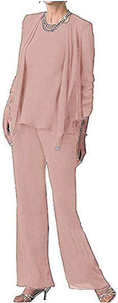 Women's 3 PC Chiffon Evening Kansas City Mall Dress for Daily bargain sale Bride The Plus Mother of
