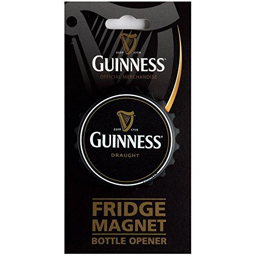 Kühlschrank-Magnet, in Kronkorkenform, mit Kapselheber, Motiv: Guinness