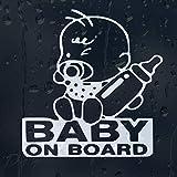 myrockshirt Pegatina para coche de bebé a bordo, con botella de aprox. 20 cm, calidad profesional, resistente a los rayos UV