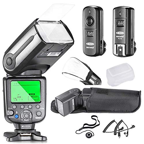 Neewer 10081493 Kit esclavo flash speedlite para cámara réflex digital Nikon