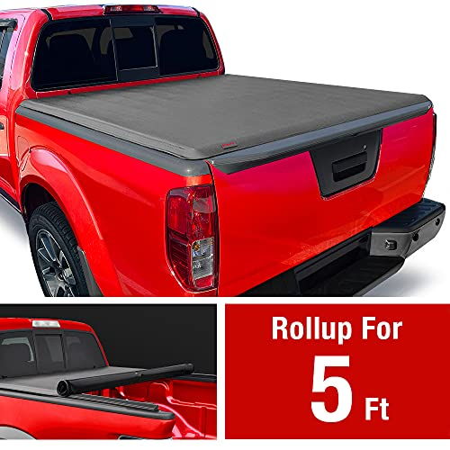 MaxMate Soft Roll Up Truck Bed Tonneau Cover Compatible with 2005-2021 Nissan Frontier; 2009-2012 Suzuki Equator | Fleetside 5