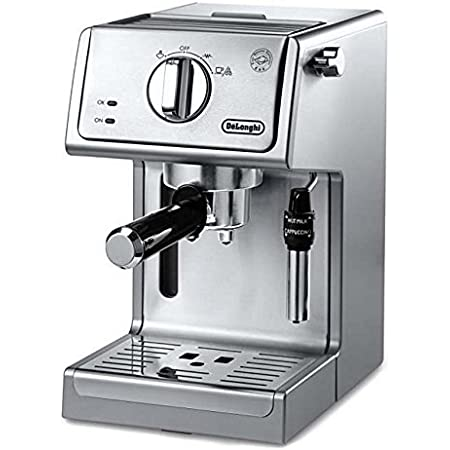 "De'Longhi Bar Pump Espresso and Cappuccino Machine, 15"", Stainless Steel"