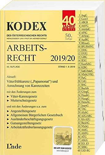 KODEX Arbeitsrecht 2019/20 (Kodex des Österreichischen Rechts)
