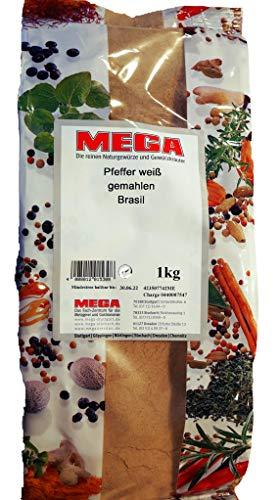 Pfeffer weiß gemahlen Brasil von MEGA 1000gr