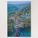 JAbstract - Puzzle de 500 piezas desafiantes y educativos, juego de puzles desafiantes y educativos, adoramos Harpers Ferry West Virginia