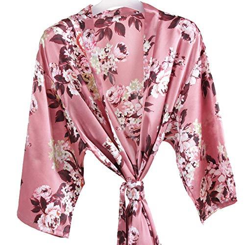 YRTHOR Albornoz Floral para Mujer, Bata de Kimono Corta de...