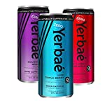 Yerbae Sparkling Water – Natural Energy Drink Seltzer with Caffeine, Antioxidants, Yerba Mate – 0 Sugar, No Calories (Variety 12-pack of 16oz Cans) Gourmet Grape, Iced Triple Berry, Black Cherry