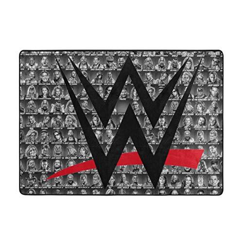 WWE Luxury Area Rug 7x5feet Modern Indoor Decor Floor Mat Extra Soft Comfy Non-Slip Carpet for Bedroom Living Room Kids Nursery