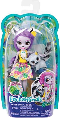Mattel España, S.A. Muñeca Enchantimals Lemur 15 cm