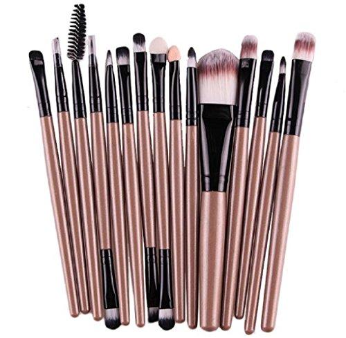 Gillberry 15 pcs/Sets Eye Shadow Foundation Eyebrow Lip Brush Makeup Brushes Tool