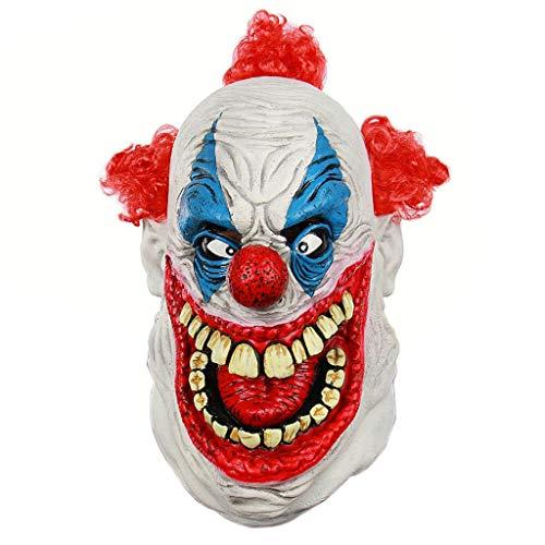 N/A. Mscara de ltex de cara completa para Halloween, terror, espeluznante, zombi, gran boca, payaso, disfraz de fiesta de disfraces, accesorios de fotografa