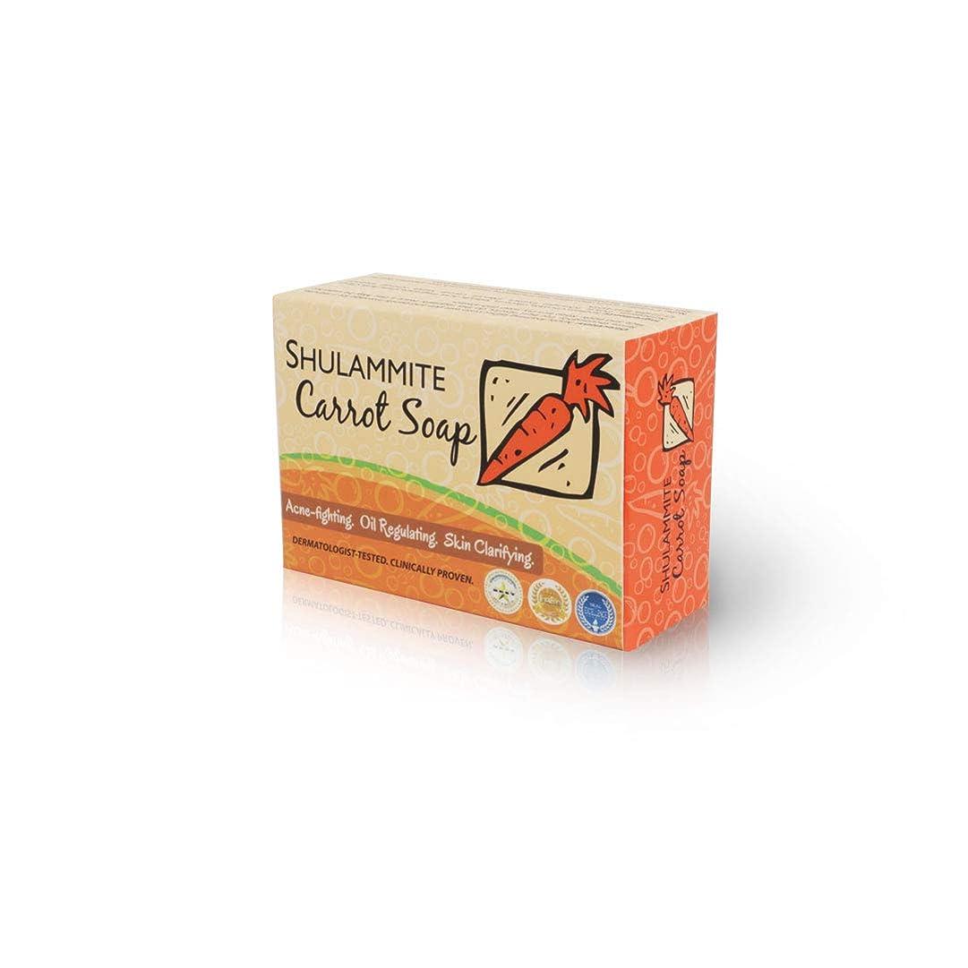 表示効能折り目SHULAMMITE Carrot Soap キャロットソープ150g 正規輸入代理店