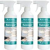 3 x HOTREGA Desinfektions-Reiniger 500ml Sprühflasche