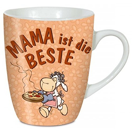 NICI Tasse Mama, Porzellan, perfektes Muttertagsgeschenk, Kaffeebecher für die Beste Mutti der Welt, bunt, 8 x 10 cm Füllvolumen 310 ml (gefüllt bis ca. 1 cm unter den Rand)