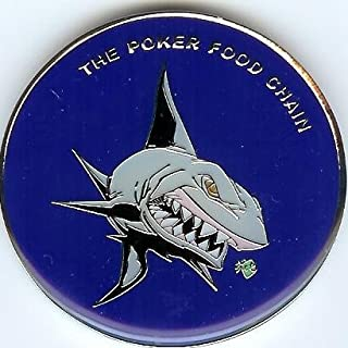 The Poker Shark Food Chain Poker Weight Card Cover Guard