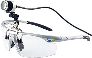 クリップ式LEDヘッドライト 充電式 1W 10時間続けて使用でき 高強度(15000-30000Lux) ヘッドライトランプ 歯科、外科、医療、家庭、デンタル用ライト 双眼ルーペなどの様々なメガネにも 製作 機械 作業 生物研究 開発 手術 ...