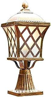 WSSBK Outdoor Pillar Lamp ,Aluminum Rust Prevention Single Metal Post Light Aisle Column Headlight Exterior Waterproof Wal...