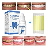 Yiitay Teeth Whitening Kit, Teeth Whitening Essence - Oral Care Dental Hygiene | Tobacco Stains | Pigment Teeth | Plaque | Mouth Clean, Tooth Care Tool with 10Pcs Cotton Swab