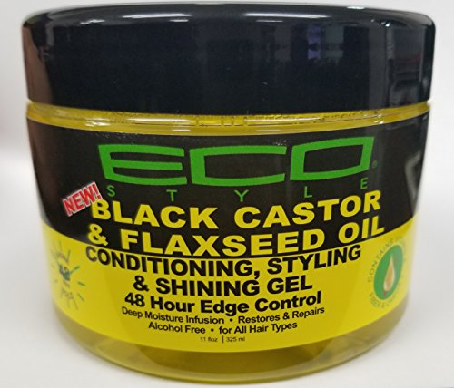 Price comparison product image Ecoco Eco Style Black Castor Oil & Flaxseed Oil 48 Hour Edge Control,  8 Ounce